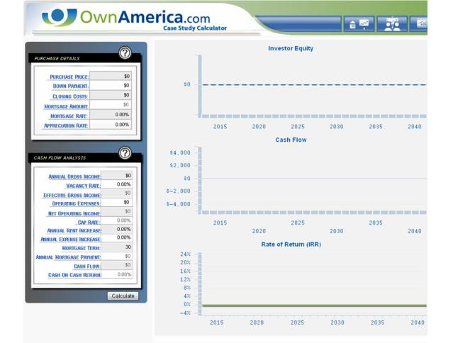 OwnAmerica Case Study Calculator Screen