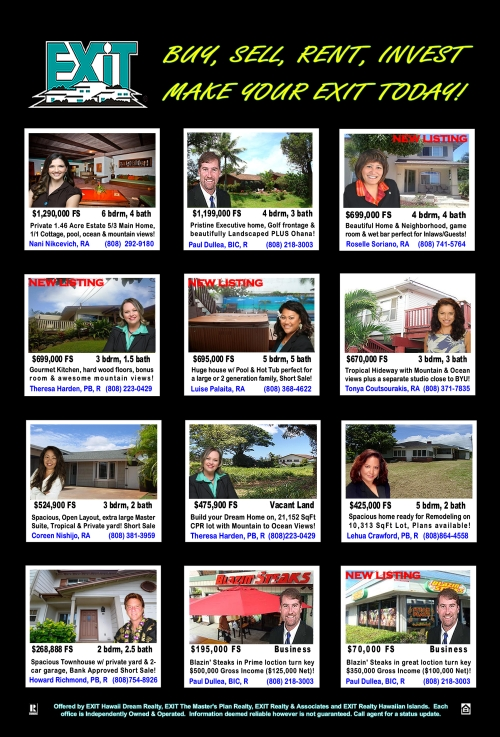 TREB April 2012 Exit Realty Featured Oahu Properties