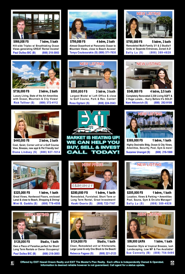 EXIT Realty November 2012 Hawaii Featured Oahu Homes For Sale