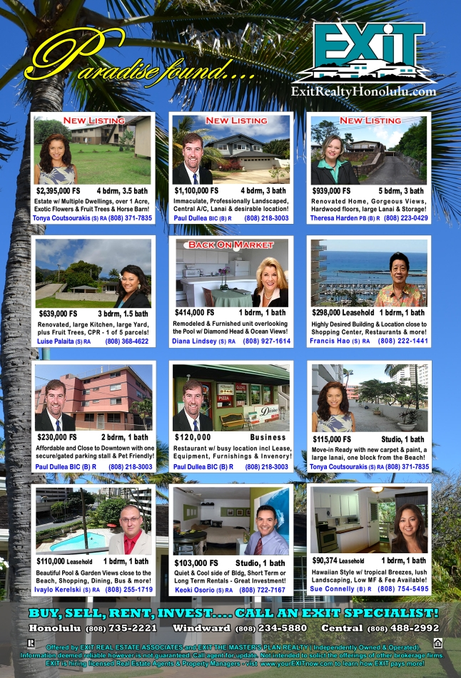 Click Here for More Details on these Featured Oahu Homes For Sale
