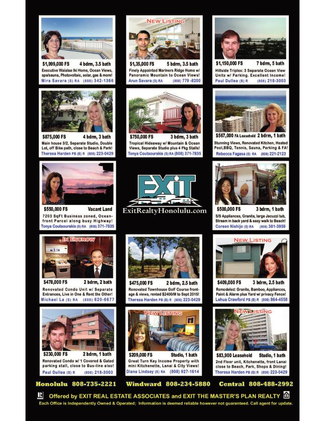 EXIT Realty March 2015 Hawaii Featured Oahu Homes For Sale