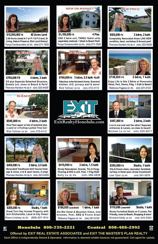EXIT Realty September 2015 Hawaii Featured Oahu Homes For Sale