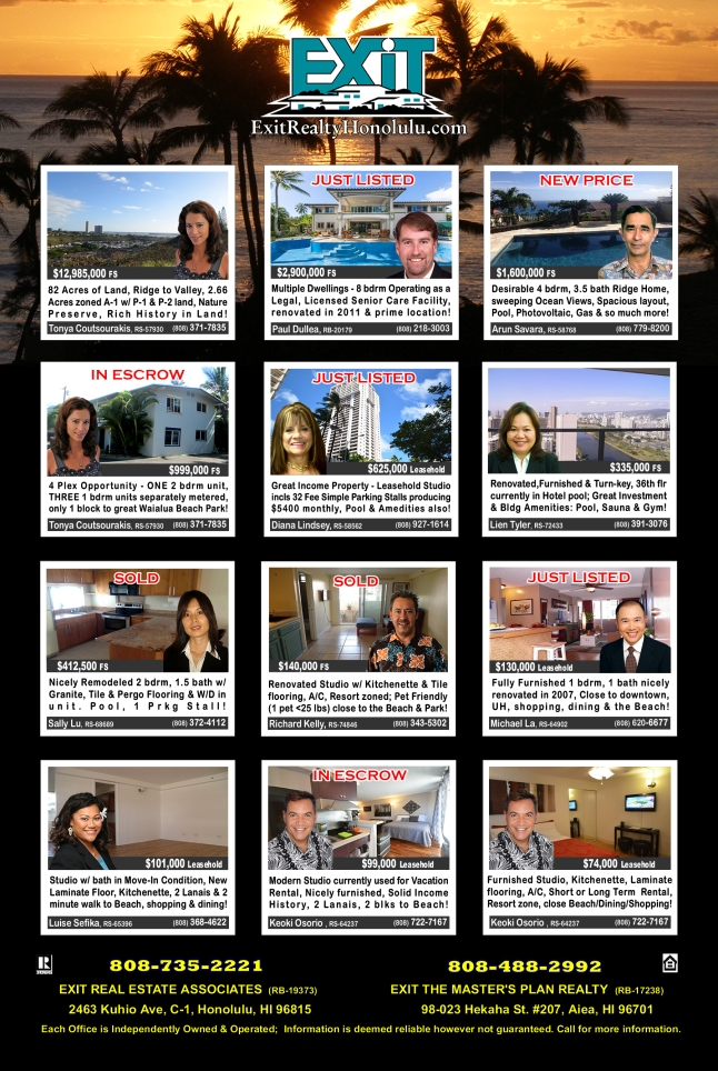 February 2016 Hawaii Featured Oahu Homes For Sale
