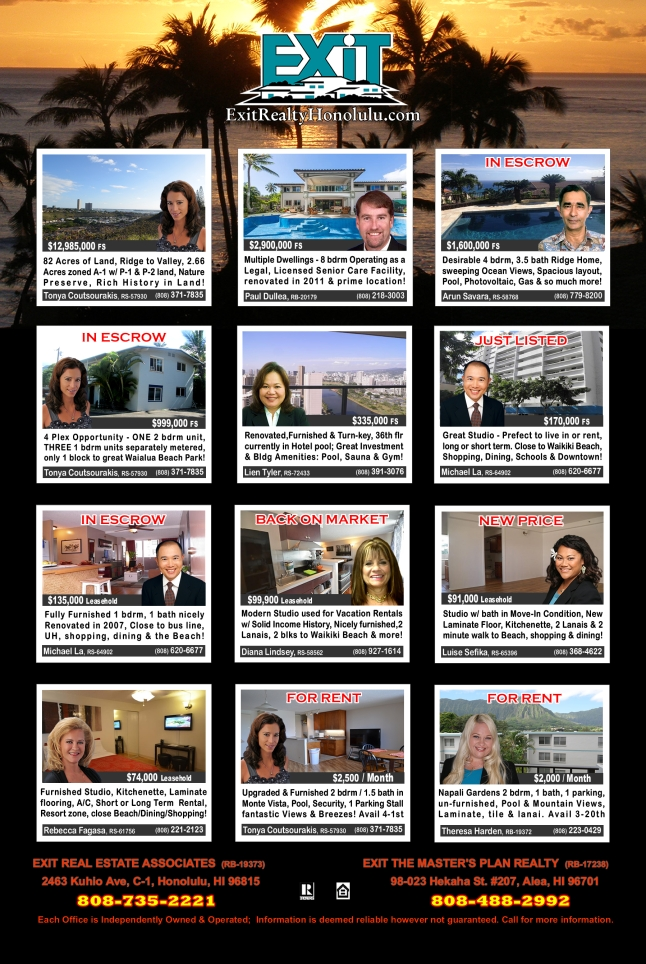 March 2016 Hawaii Featured Oahu Homes For Sale
