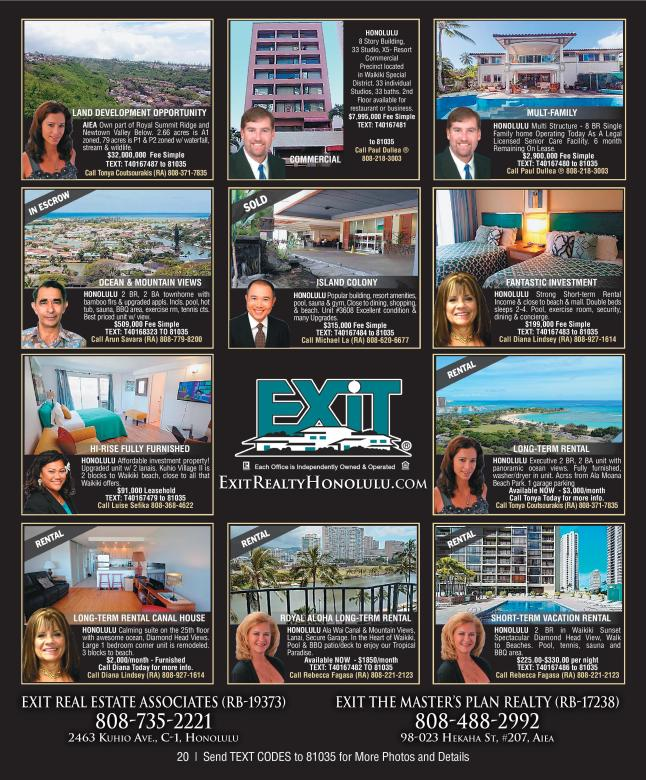 October 2016 Hawaii Featured Oahu Homes For Sale