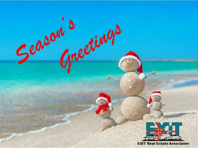 Seasons Greetings - Sandman on the Beach