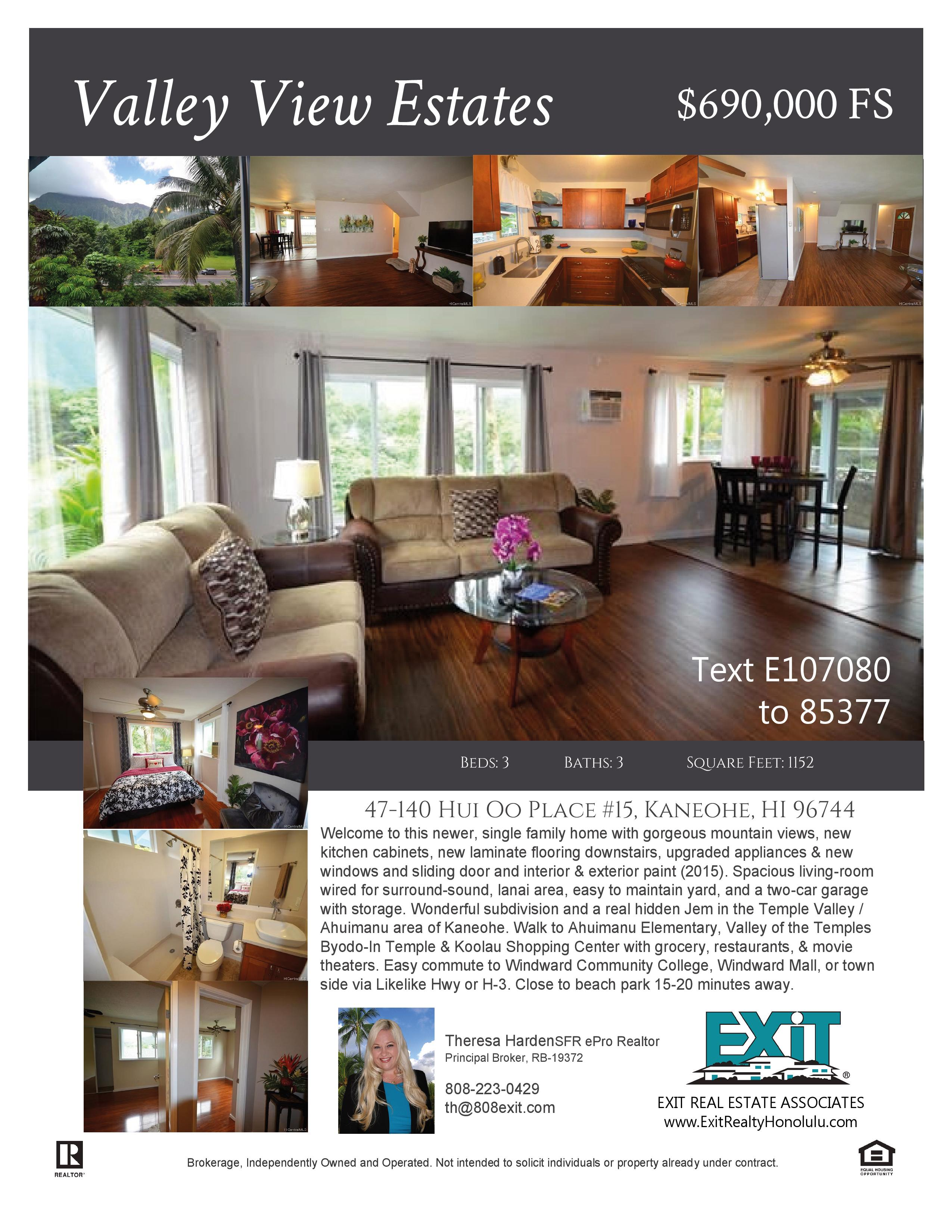 Kaneohe Valley View Estates Home For Sale 690 000 Fs