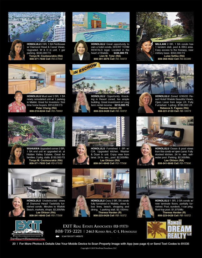 February 2020 Hawaii Featured Oahu Real Estate For Sale