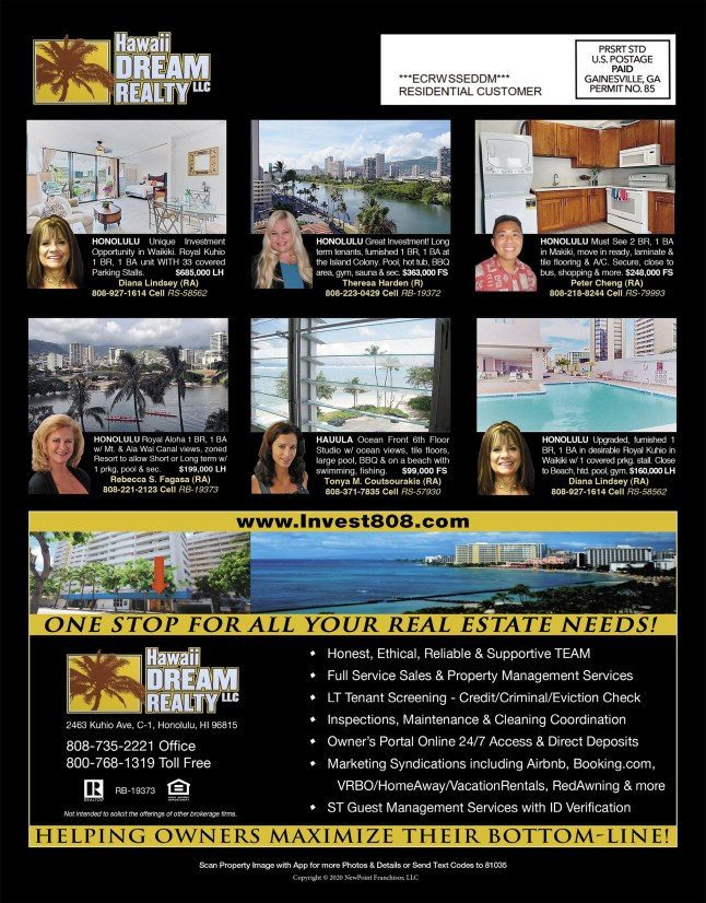 October 2020 Hawaii Featured Honolulu Real Estate For Sale